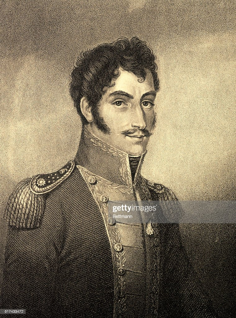 SIMON BOLIVAR, SOUTH AMERICAN LIBERATOR.UNDATED ENGRAVING.