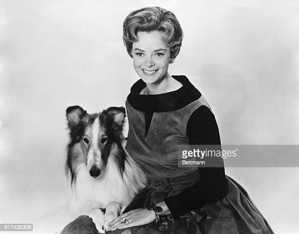 LASSIE TELEVISION SHOW STARS LASSIE AND JUNE LOCKHARTUNDATED PHOTOGRAPH