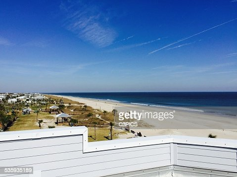 ROOFTOP BEACH VIEW : Stock Photo