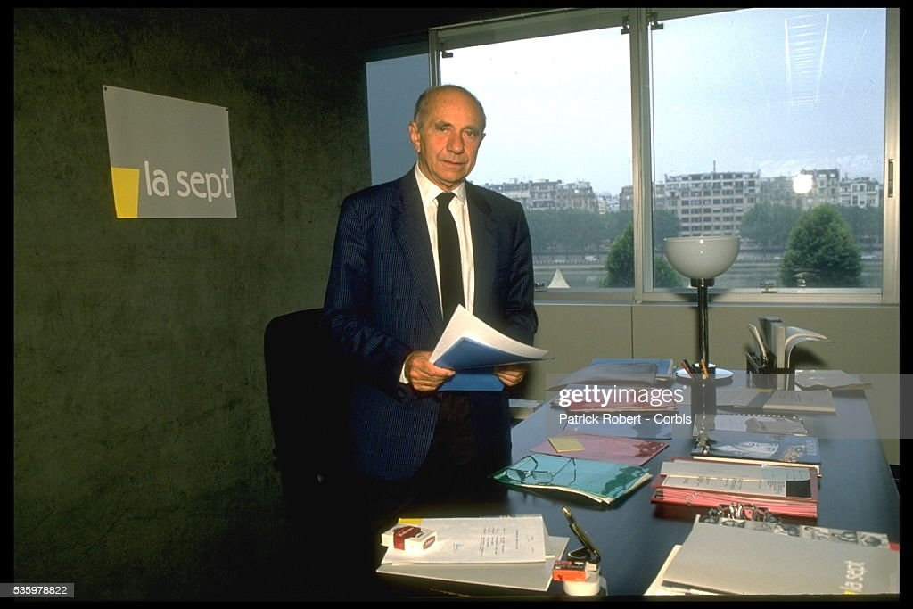 HISTORIAN GEORGES DUBY, CHAIRMAN AND MANAGING DIRECTOR OF 'SEPT'