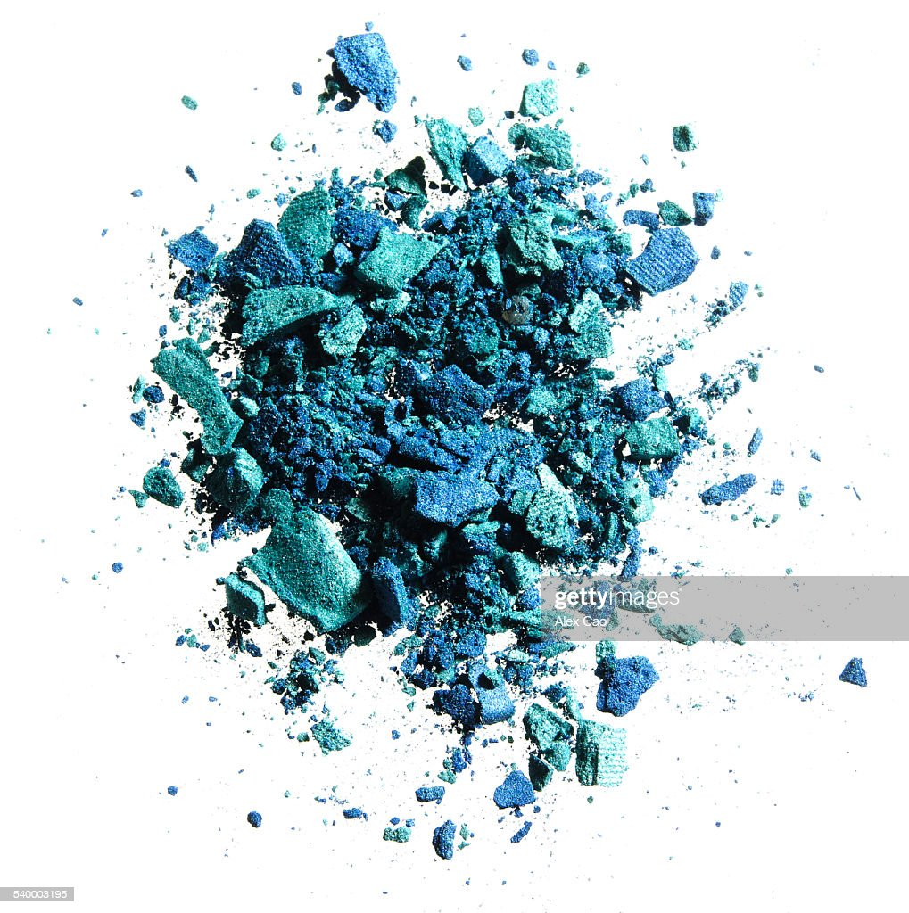 CRUSHED EYESHADOW BLUE AND GREEN
