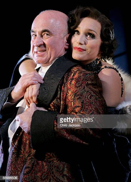 Cast members Kristin Scott Thomas and Bob Hoskins perform at the photocall for the new stage production of 'As You Desire Me' at the Playhouse...