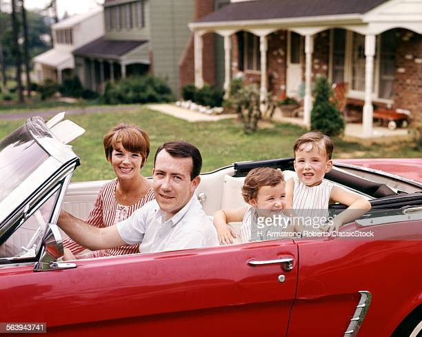 FAMILY IN RED CONVERTIBLE