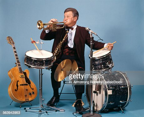 ONE MAN WITH BAND INSTRUMENTS