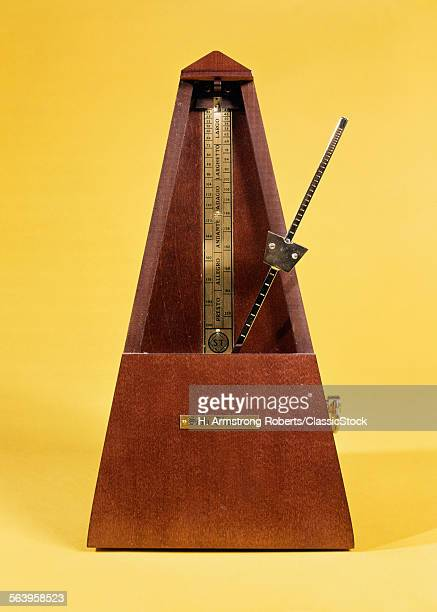 WOODEN AND BRASS METRONOME