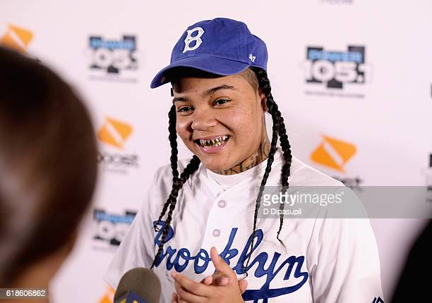 Hip hop artist Young MA attends Power 1051's Powerhouse 2016 at Barclays Center on October 27 2016 in New York City