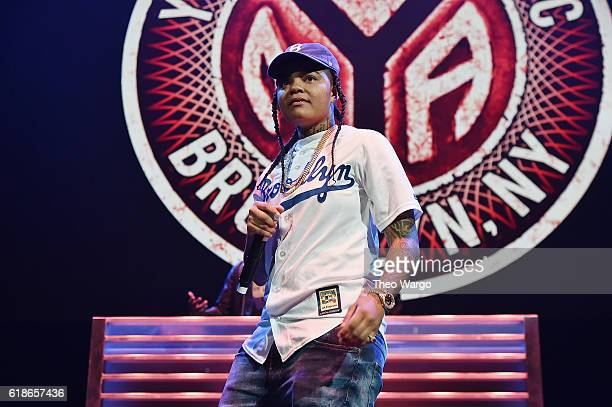 Hip hop artist Young MA performs onstage during Power 1051's Powerhouse 2016 at Barclays Center on October 27 2016 in New York City