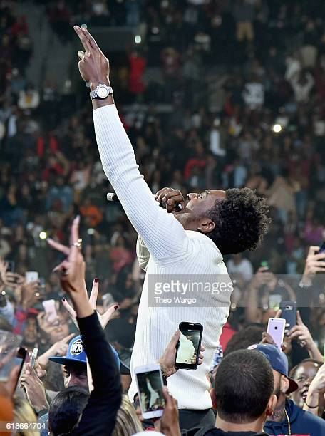 Rapper Desiigner performs onstage during Power 1051's Powerhouse 2016 at Barclays Center on October 27 2016 in New York City