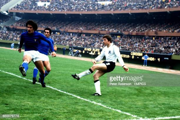 WEST GERMANY CROSSES AGAINST ITALY