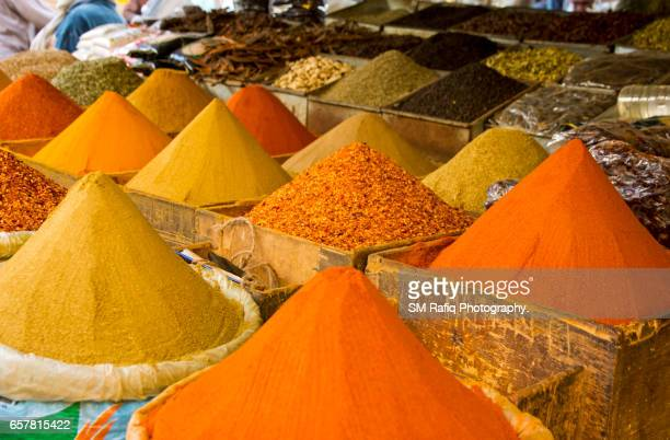 THE COLORFUL SPICE ARE ON DISPLAY FOR SALE
