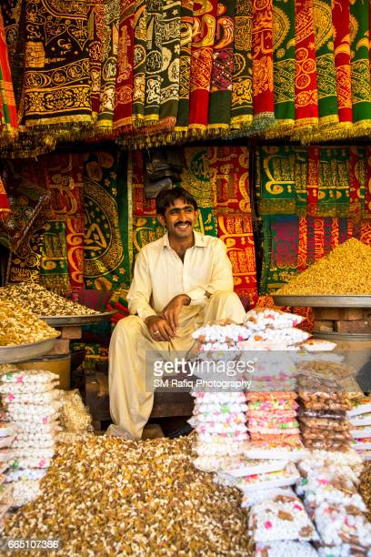 SHOPS SELLING CHADDAR AT BAZAAR BY A SHRINE