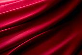 真紅のサテンの背景素材