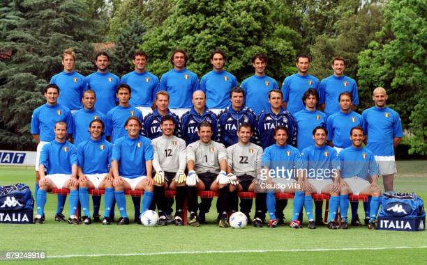 29 MAY 2000 COVERCIANO OFFICIAL PRESENTATION OF ITALY FOOTBALL TEAM FOR EURO 2000 TEAM SHOT