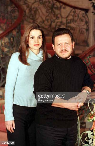 S ROYAL FAMILY KING ABDULLAH II AND QUEEN RANIA DURING EXCLUSIVE INTERVIEW WITH TIME MAGAZINE'S SCOTT MACLEOD AT THE ROYAL FAMILY RESIDENCE IN AMMAN...
