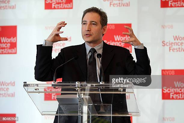 World Science Festival founder and Pulitzer nominated physicist Brian Greene speaks during a press conference to announce the World Science Festival...