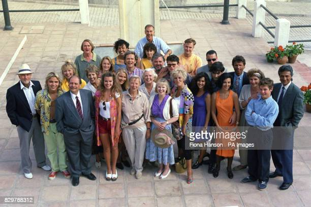OF 'ELDORADO' IN SPAIN ON LOCATION WITH EASTENDERS CREATOR JULIA SMITH [ FRONT ROW 5TH FROM LEFT ] THE SOAP BEGINS ON JULY 6TH