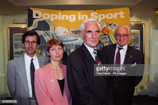 S COLLEGE MICHELLE VERROKEN HEAD OF DOPING CONTROI AT THE SPORTS COUNCIL PROF PETER RADFORD EXECUTIVE CHAIRMAN OF THE BRITISH ATHLETICS FEDERATION...