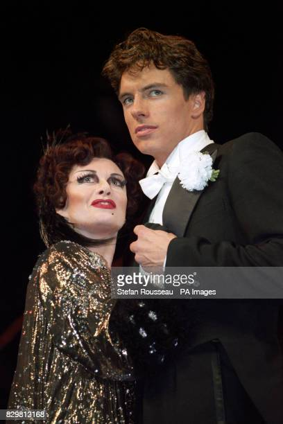 S MUSICAL SUNSET BOULEVARD REHEARSES HER NEW ROLE WITH JOHN BARROWMAN WHO PLAYS JOE GILLIS AT THE ADELPHI THEATRE