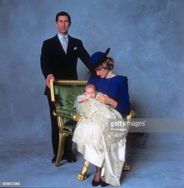 S CHAPEL WINDSOR WITH HIS PARENTS IN CHRISTENING GOWN