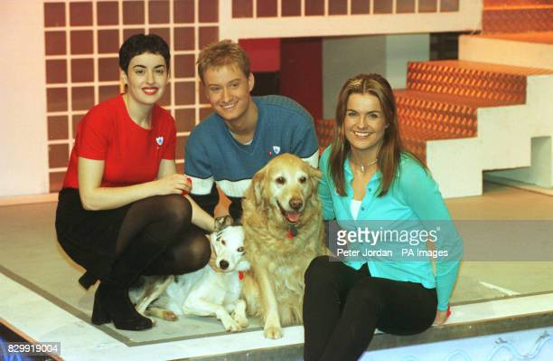 CLUB ROMANA D' ANNUNZIO STUART MILES AND KATY HILL WITH DOGS BONNIE MABEL