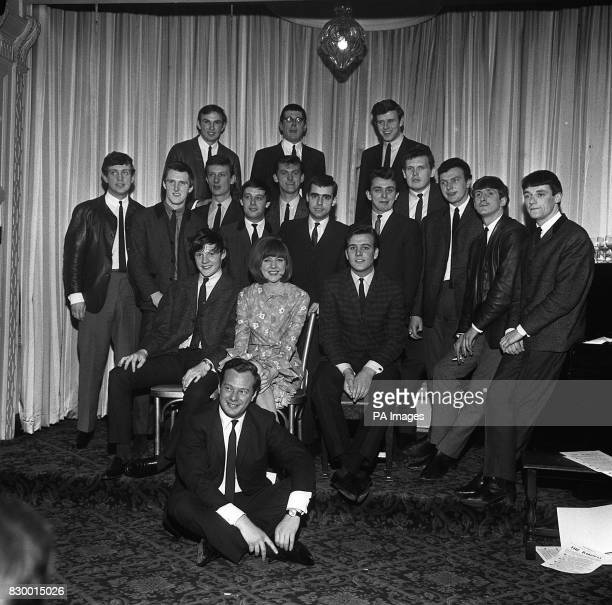WITH ARTISTS APPEARING IN HIS SHOW AT THE PALACE THEATRE MANCHESTER FRONT ROW IS CILLA BLACK WITH TOMMY QUICKLY AND BILLY J KRAMER