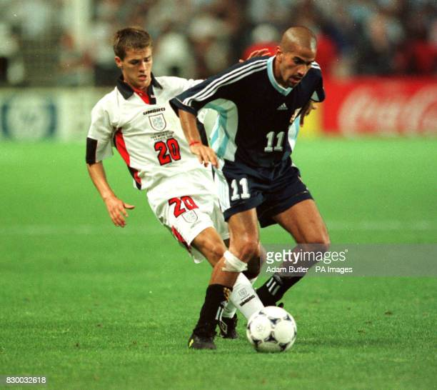 S JUAN VERON DURING THEIR 1998 WORLD CUP SECONDROUND MATCH IN ST ETIENNE FRANCE