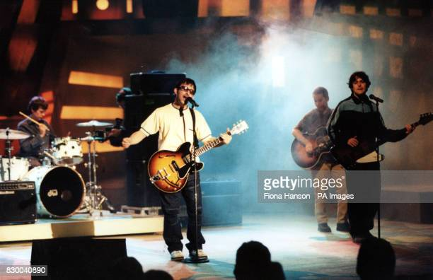 GROUP 'THE LIGHTNING SEEDS' PERFORMING ON STAGE DURING THE ITV BARCLAYCARD CHAMPIONS OF SPORT AWARDS AT THE WEMBLEY CONFERENCE CENTRE