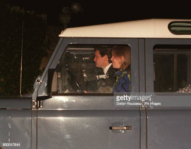 AND HER HIUSBAND DANIEL CHATTO ARRIVE AT THE PRINCE OF WALES' GLOUCESTERSHIRE HOME HIGHGROVE WHERE HIS SONS WILLIAM AND HARRY WERE PUTTING ON A PLAY...
