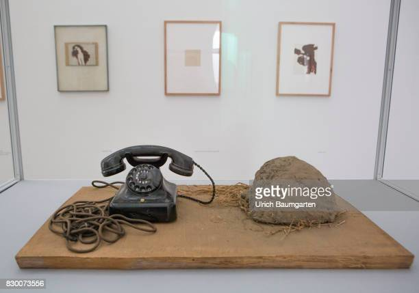 In the Museum Pinakothek der Moderne in Munich Joseph Beuys Erdtelephon 1968