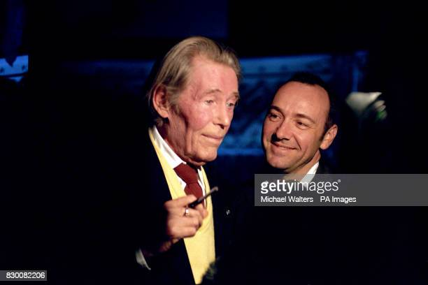 TOOLE AND KEVIN SPACEY ATTEND THE RELAUNCH OF THE OLD VIC THEATRE IN LONDON SAPCEY IS THE DIRECTOR OF THE OLD VIC THEATRE TRUST WHICH HAS SAVED THE...