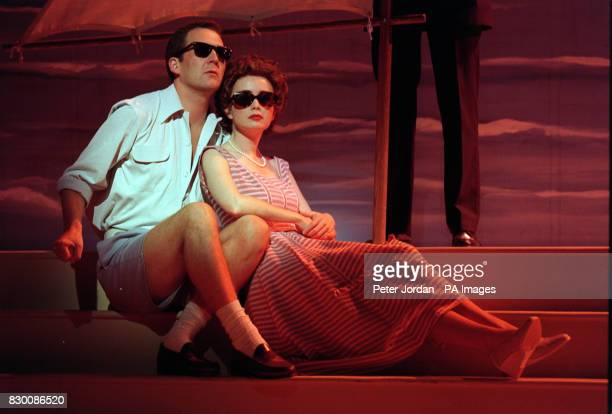 AND JAMES GAGGAS STAR IN THE MUSICAL 'JACKIE' A SATIRICAL COMEDY WHICH CHARTS THE LIFE OF THE LATE JACKIE BOUVIER KENNEDY ONASSIS ON AT THE QUEENS...