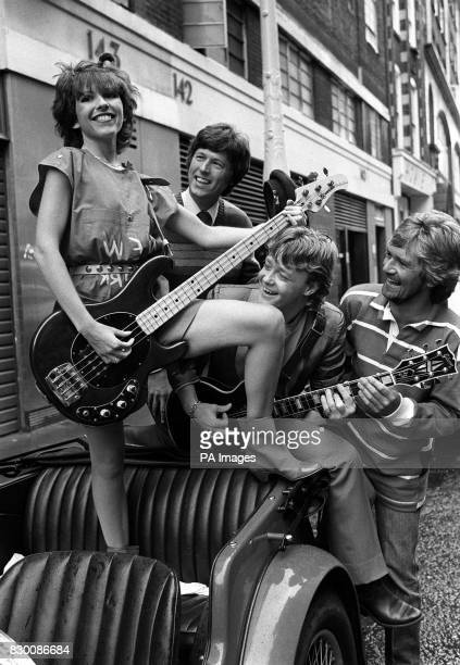 PHOTO 30/9/81 'BROWN SAUCE' IN LONDON TO PROMOTE THEIR FIRST PUBLIC APPEARANCE AND CELEBRATE THE RELEASE OF THEIR FIRST RECORD WRITTEN BY NOEL...