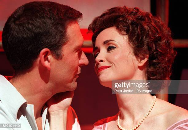 ON STAGE WITH LYSETTE ANTHONY DURING A PHOTOCALL FOR THE MUSICAL JACKIE A SATIRICAL COMEDY WHICH CHARTS THE LIFE OF THE LATE JACKIE BOUVIER KENNEDY...