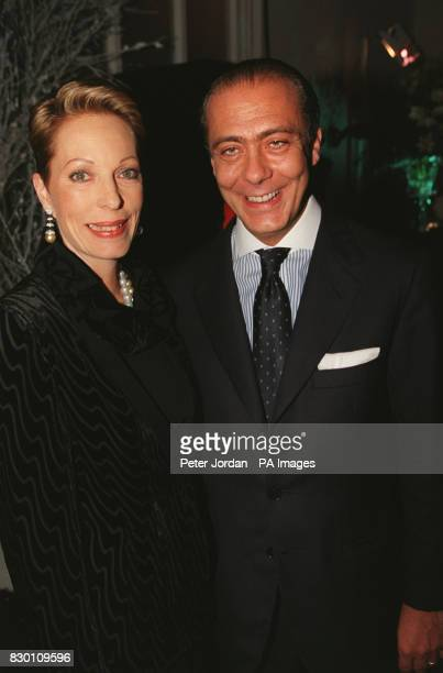 AND SALIMAH AGA KHAN AT THE CELEBRITY LAUNCH PARTY FOR THE OPENING OF THE FIRST LONDON STORE BY LEADING GENEVA JEWELLERS DE GRISOGONO