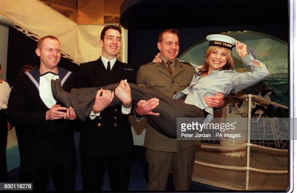 S 'TOMORROW'S WORLD' GETS A LIFT FROM THREE MEMBERS OF HM ARMED FORCES AT THE LONDON INTERNATIONAL BOAT SHOW IN EARLS COURT THE DAY BEFORE THE SHOW...