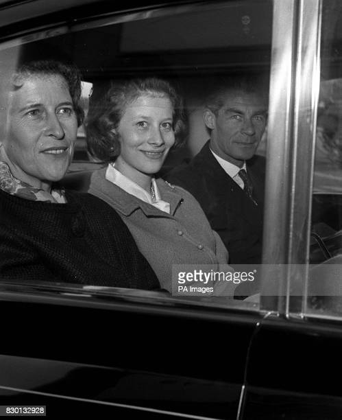 S HEATHROW AIRPORT AFTER FLYING IN FOR THE WEDDING NEXT WEDNESDAY OF PRINCESS ALEXANDRA AND MR ANGUS OGILVY PRINCESS CLARISSA IS THE NIECE OF THE...