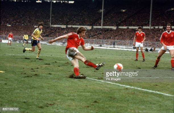 S THIRD GOAL DURING THE LEAGUE CUP FINAL AGAINST SOUTHAMPTON AT WEMBLEY IN LONDON NOTTINGHAM FOREST THE HOLDERS RETAINED THE TROPHY WITH A 32 VICTORY