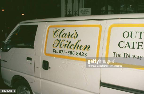 S KITCHEN VAN ONE OF A FLEET RUN BY CLARE LATIMER LEAVES THE HOUSE OF COMMONS THIS EVENING WHERE IT SUPPLIED REFRESHMENTS FOR A MEETING OF THE...