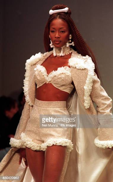 A 'WEDDING DRESS' DURING ARABELLA POLLEN'S FASHION SHOW PART OF LONDON FASHION WEEK