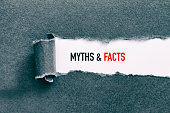 MYTHS AND FACTS written under torn paper.