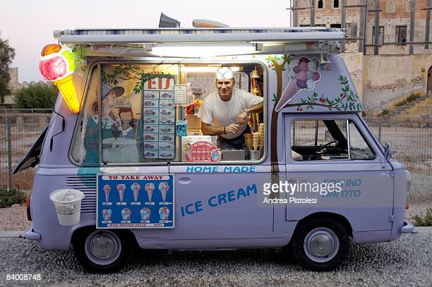 ICE CREAM SELLER IN GREECE
