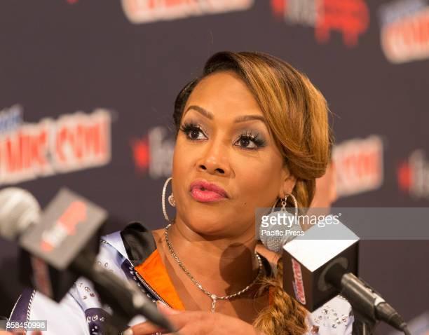 Vivica Fox attends Panel Explosion Jones during 2017 New York Comic Con Day 1