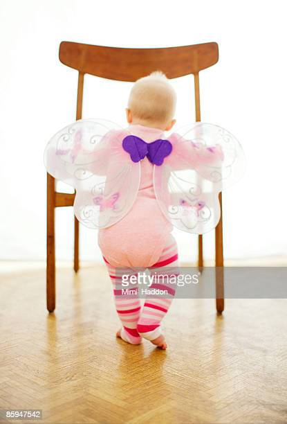 9 MONTH OLD BABY GIRL WITH BUTTERFLY WINGS