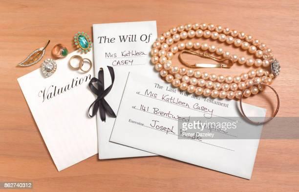 LAST WILL AND TESTAMENT WITH JEWELLERY