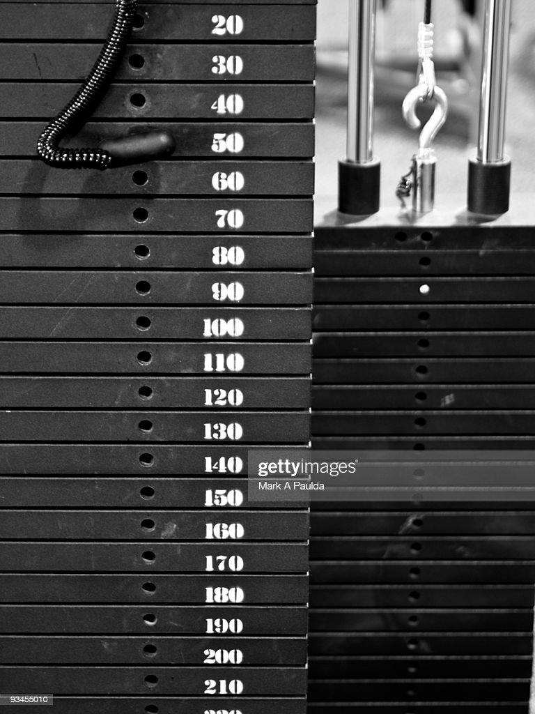 WEIGHT STACK : Stock Photo