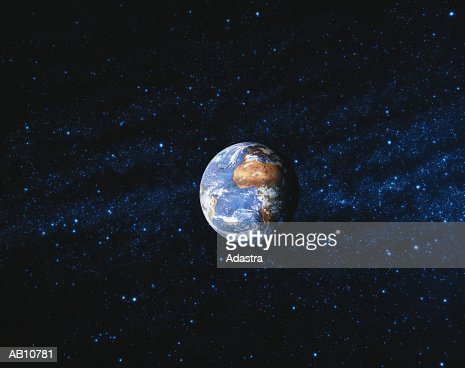 WORLD GLOBE AND STARRY SKY