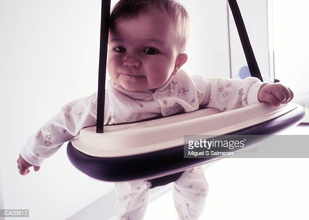 SIX MONTH OLD BABY GIRL ON BOUNCY CHAIR, DFA
