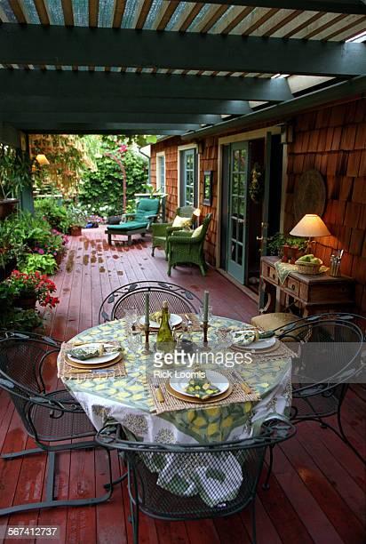 SO0525patio3RL––Huntington Beach––The back patio area of the home of Claudia Schmutzler and her partner Jeanie Werner in Huntington Beach