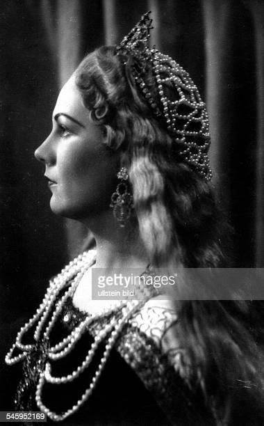 *Sängerin Opernsängerin Sopran ItalienRollenporträt als 'Elisabetta' in 'Tannhäuser' undatiert