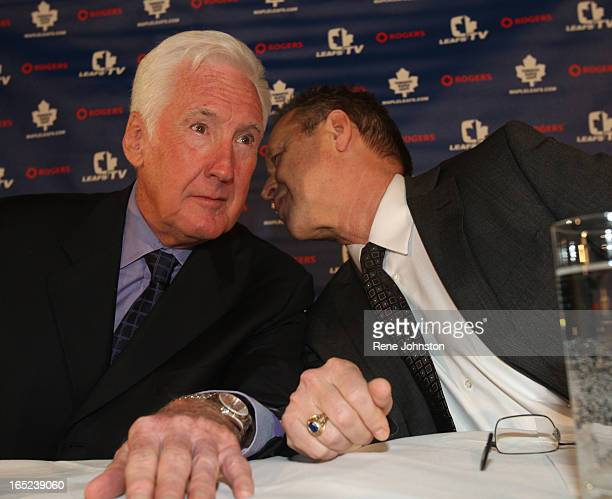 Peddy and Fletcher chat a the head table The Toronto Maple Leafs hockey team announced today the firing of John Ferguson as GM and appointment of...
